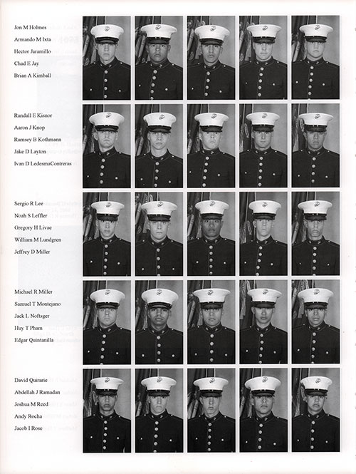 Platoon 2006-1073 MCRD San Diego Recruits, Page 5.