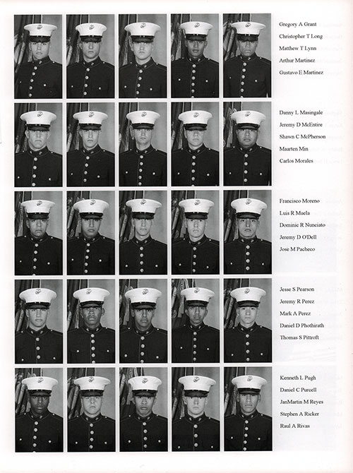 Platoon 2006-1075 MCRD San Diego Recruits, Page 4.