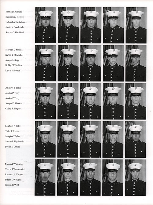 Platoon 2006-1075 MCRD San Diego Recruits, Page 5.