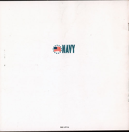 Back Cover, There's Something About a Navy Wave. 1967 Brochure.