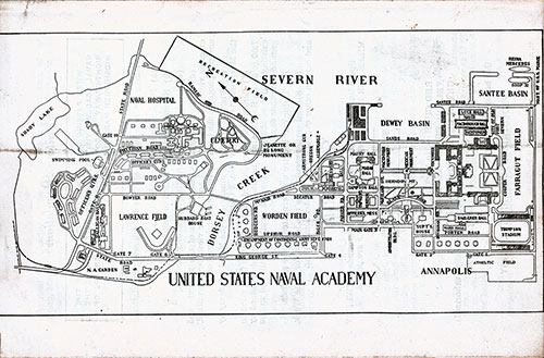 Map of the United States Naval Academy