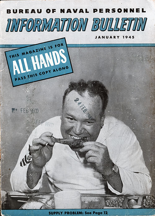 All Hands Magazine - January 1945 Front Cover.