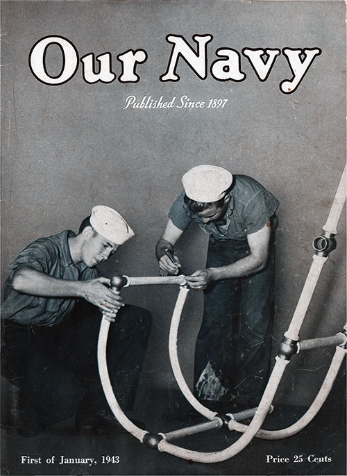Front Cover, 1 January 1943 Issue of Our Navy Magazine.