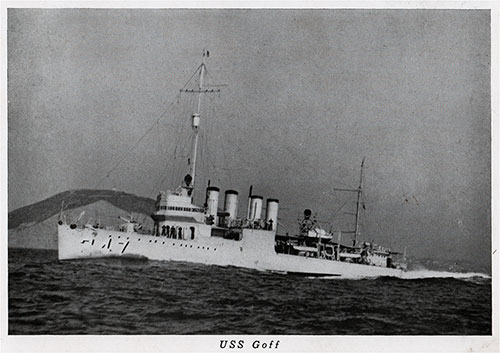 USS Goff (DD-247) was a Clemson-class destroyer in the United States Navy during World War II.