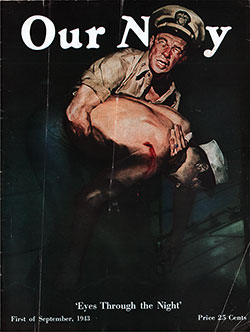 Front Cover, 1 September 1943 Issue of Our Navy Magazine.