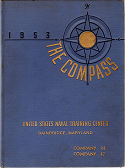 "Front Cover, Bainbridge USNTC ""The Compass"" 1953 Company 044"