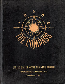 "Front Cover, Great Lakes USNTC ""The Compass"" 1955 Company 089"