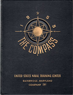 "Front Cover, Bainbridge USNTC ""The Compass"" 1955 Company 291"