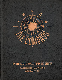 "Front Cover, Great Lakes USNTC ""The Compass"" 1955 Company 018."