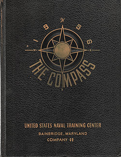 "Front Cover, Great Lakes USNTC ""The Compass"" 1956 Company 069"