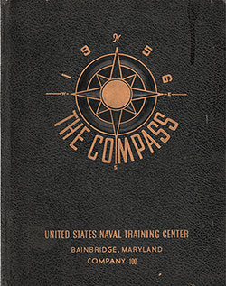 "Front Cover, Great Lakes USNTC ""The Compass"" 1956 Company 100"
