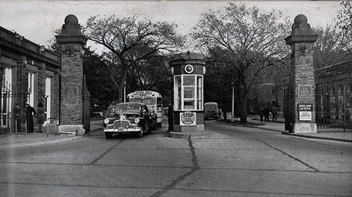Entrance to the Great Lakes Naval Training Center ca 1947