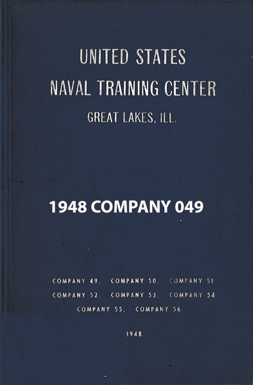 "Front Cover, Great Lakes USNTC ""The Keel"" 1948 Company 049."