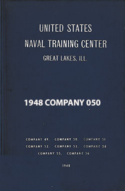 "Front Cover, Great Lakes USNTC ""The Keel"" 1948 Company 050."