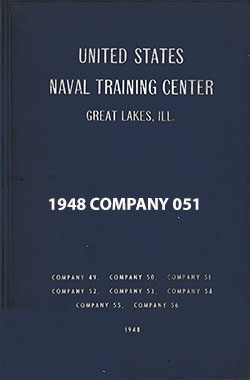 "Front Cover, Great Lakes USNTC ""The Keel"" 1948 Company 051."