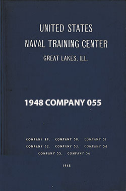 "Front Cover, Great Lakes USNTC ""The Keel"" 1948 Company 055."