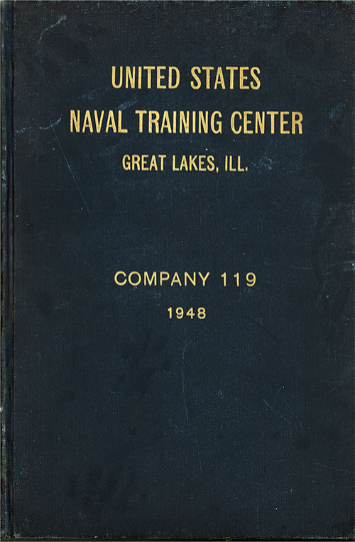 "Front Cover, Great Lakes USNTC ""The Keel"" 1948 Company 119."