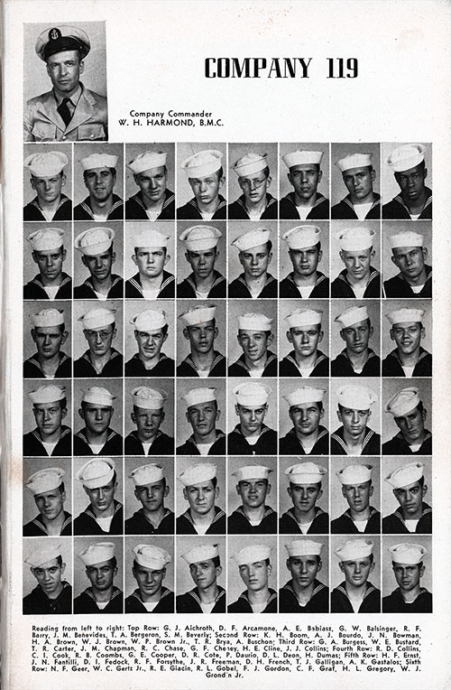 Company 48-119 Great Lakes NTC Recruits, Page 1