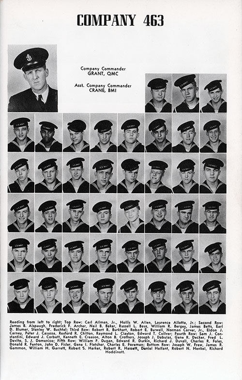 Company 48-463 Great Lakes NTC Recruits, Page 1.