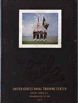 "Front Cover, Great Lakes USNTC ""The Keel"" 1950 Company 068"