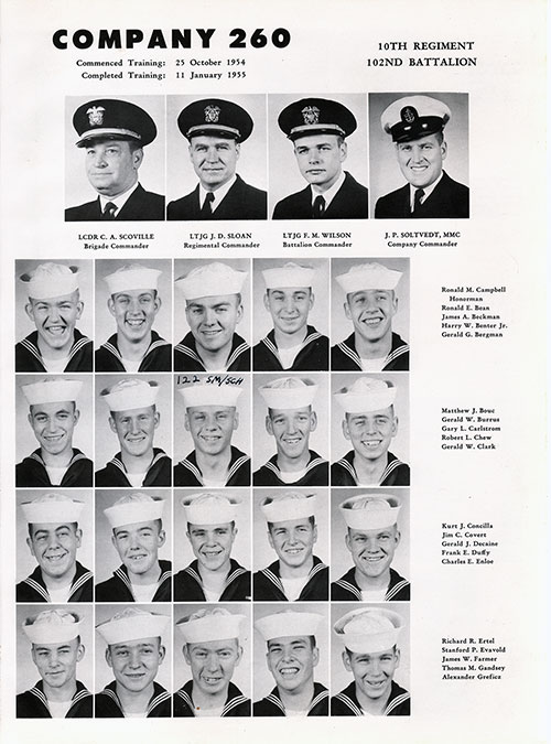 Company 55-260 Recruits, Page 1
