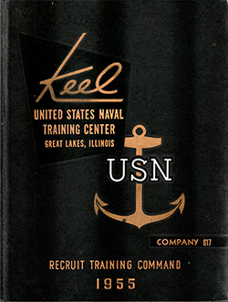 "Front Cover, Great Lakes USNTC ""The Keel"" 1955 Company 617."