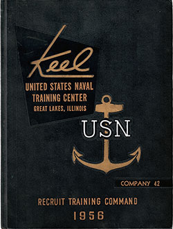 "Front Cover, Great Lakes USNTC ""The Keel"" 1956 Company 042."