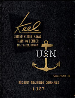 Front Cover, Navy Boot Camp 1957 Company 033 The Keel