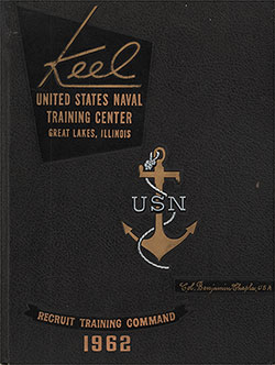 "Front Cover, Great Lakes USNTC ""The Keel"" 1962 Companies 276-291 & 926."