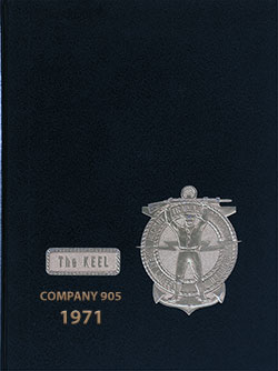 "Front Cover, Great Lakes USNTC ""The Keel"" 1971 Company 905."