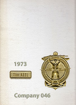 Front Cover, Navy Boot Camp Book 1973 Company 046 The Keel