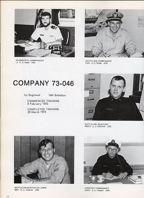 Company 73-046 Leadership, Page 1