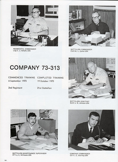 Company 73-313 Leadership, Page 1