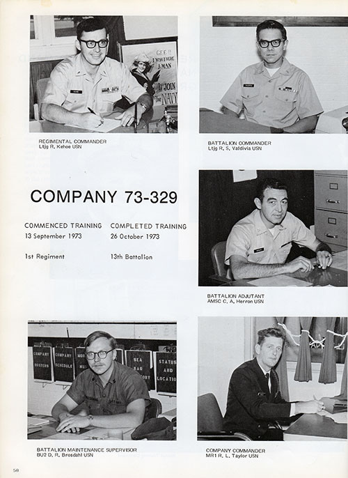 Company 73-329 Leadership, Page 1