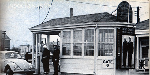 Gate 6 at the Great Lakes Naval Training Center ca 1967