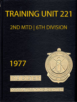 Front Cover, Navy Boot Camp Book 1977 Company 221 The Rudder