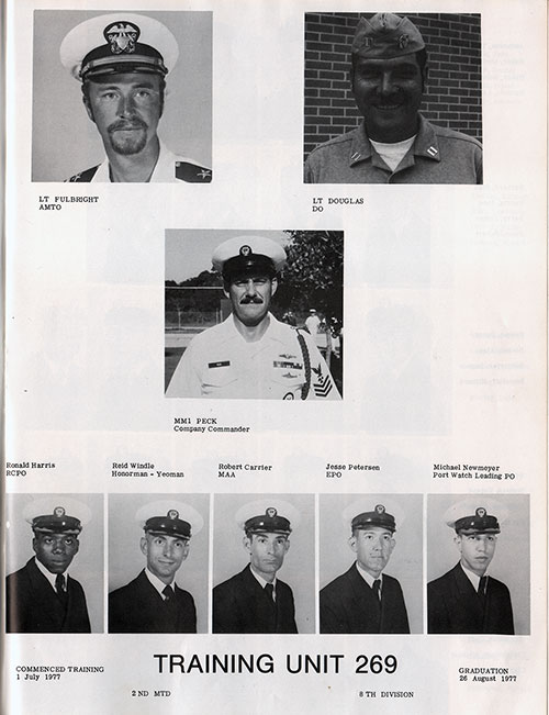 Company Leadership, Navy Boot Camp Yearbook 1977 Training Unit 269
