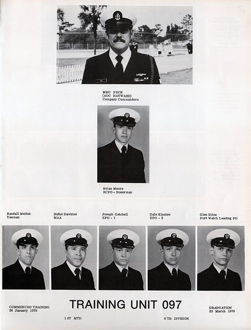Navy Boot Camp Yearbook 1978 Training Unit 097 Gg Archives