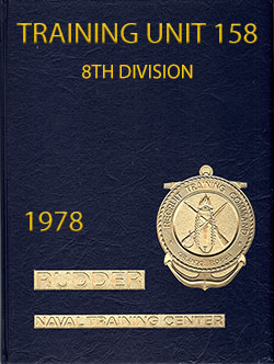 Front Cover, Navy Boot Camp Book 1978 Company 158 The Rudder