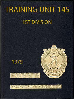Front Cover, Navy Boot Camp Book 1979 Company 145 The Rudder