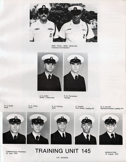 Company Leadership, Navy Boot Camp Yearbook 1979 Training Unit 145