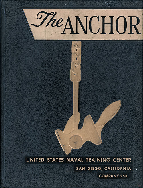Front Cover, The Anchor 1954 Company 258, Navy Boot Camp Yearbook.
