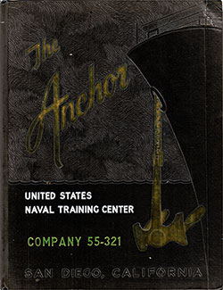 Front Cover, The Anchor 1955 Company 321, Navy Boot Camp Yearbook.