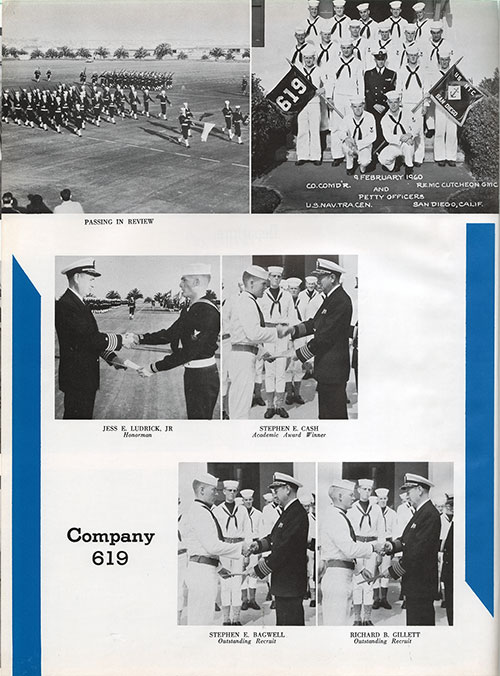 Company 59-619 Recruits, Company Honormen and Passing in Review