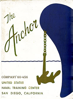Front Cover, Navy Boot Camp Book 1960 Company 456 The Anchor