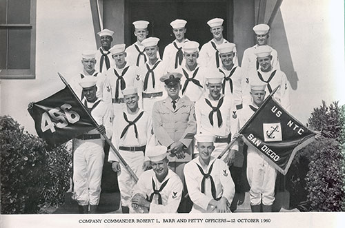 Company 60-456 Commander Robert L. Barr and Petty Officers, 12 October 1960