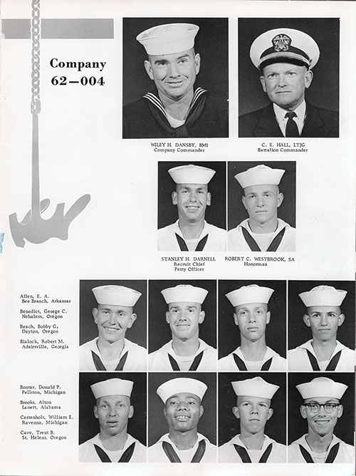 Company 62-004 San Diego NTC Recruits, Page 1.