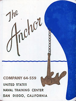 Front Cover, The Anchor 1964 Company 559, Navy Boot Camp Yearbook.