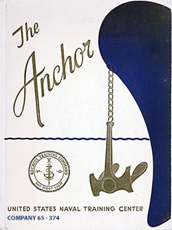 Front Cover, The Anchor 1965 Company 374, Navy Boot Camp Yearbook.