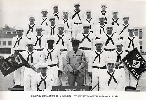 Company 71-010 Commander H. S. Brogan, UTC, and Petty Officers, 21 March 1971
